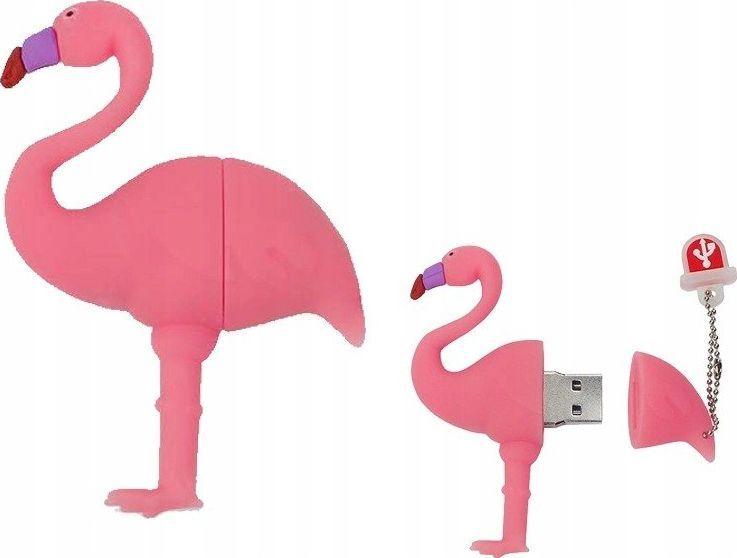 Pendrive Dr. Memory PENDRIVE FLAMING Róż Ptak Flash 64GB uniwersalny 1