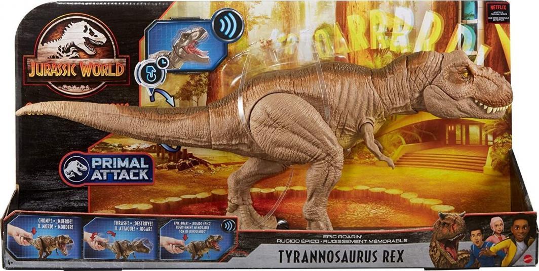 Mattel Jurassic World T-Rex Mega Ryk (GJT60) 1