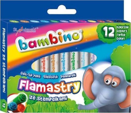 Bambino BAMBINO Flamastry ze stempelkami 12 szt. 1