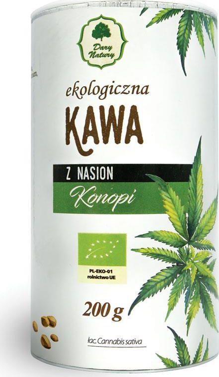Dary Natury EKO Kawa z nasion konopii 200g tuba DARY NATURY 1