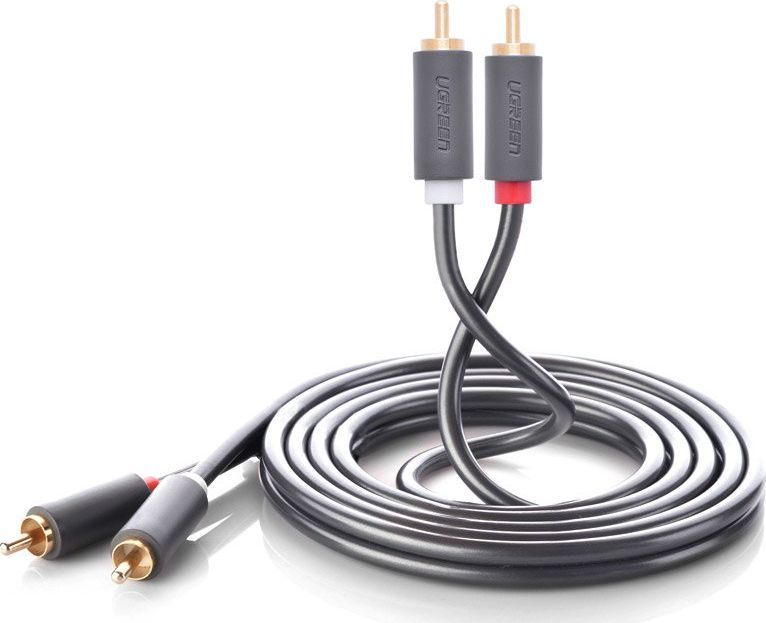 Kabel Ugreen RCA (Cinch) x2 - RCA (Cinch) x2 5m szary (UGR457BLK) 1