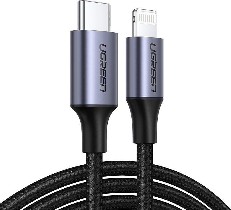 Kabel USB Ugreen Ugreen Mfi Kabel Przewód Usb Typ C - Lightning Power Delivery 3 A 480 Mbps 1 M Zielony (80564 Us304) 1