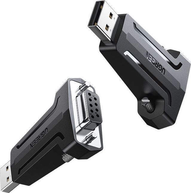 Adapter USB Ugreen Ugreen Adapter Konwerter Przejściówka Db9 Rs-232 - Usb Czarny (80111 Cm326) 1