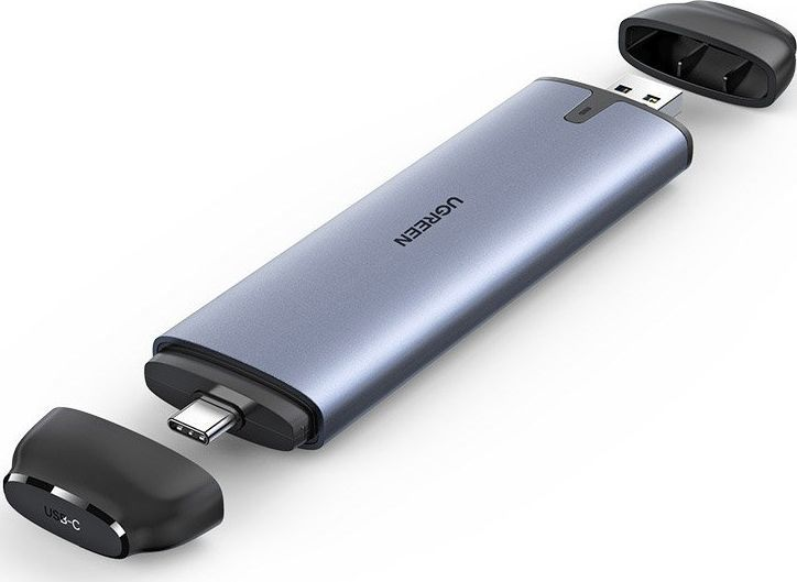 Kieszeń Ugreen USB-C + USB-A 3.2 Gen 1 - M.2 SATA B-key (70533) 1