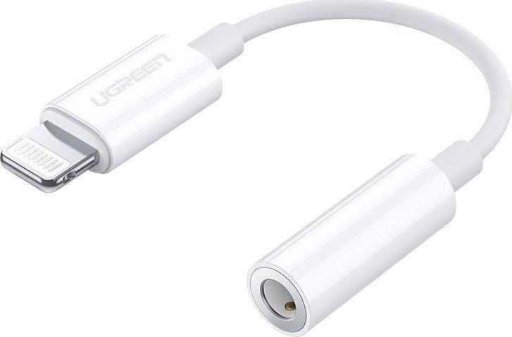 Adapter USB Ugreen Ugreen Mfi Adapter Przejściówka Ze Złącza Lightning Na Gniazdo Słuchawkowe 3,5 Mm Mini Jack Biały (Us212 30759) 1