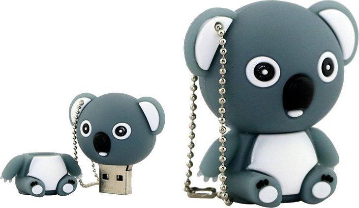 Pendrive Dr. Memory PENDRIVE MIŚ SZARY Przent USB 16GB uniwersalny 1
