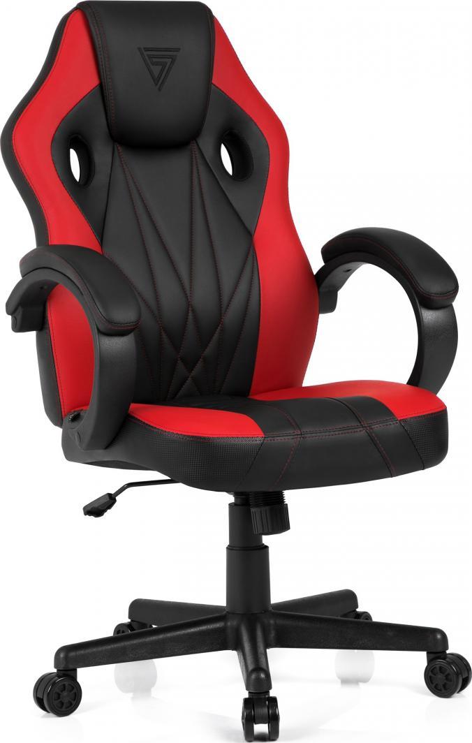 Fotel SENSE7 Prism czarno-czerwony 1