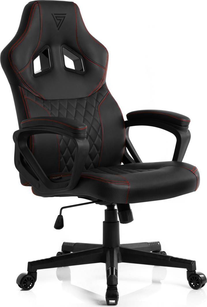 Fotel SENSE7 Druid czarno-czerwony 1
