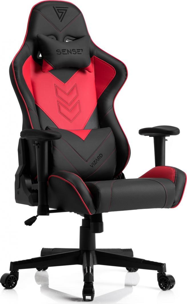 Fotel SENSE7 Vizard czarno-czerwony 1