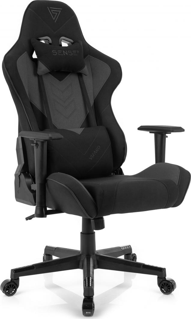 Fotel SENSE7 materiałowy Vizard czarno-szary 1