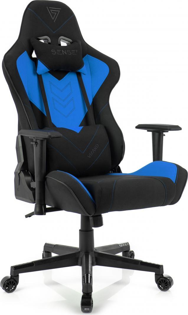 Fotel SENSE7 materiałowy Vizard czarno-niebieski 1