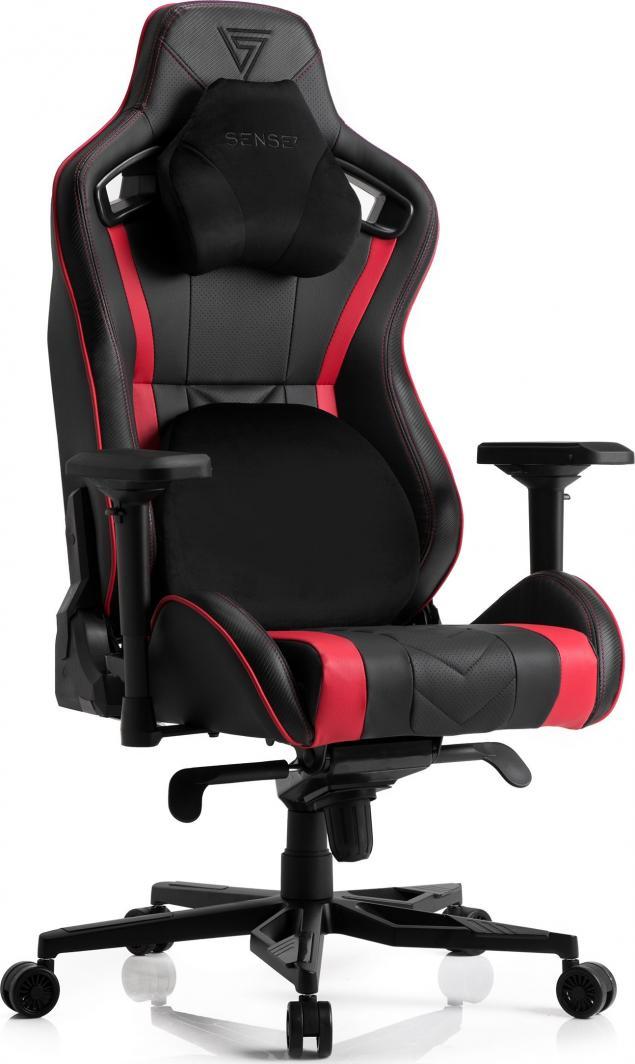 Fotel SENSE7 Legend czarno-czerwony 1