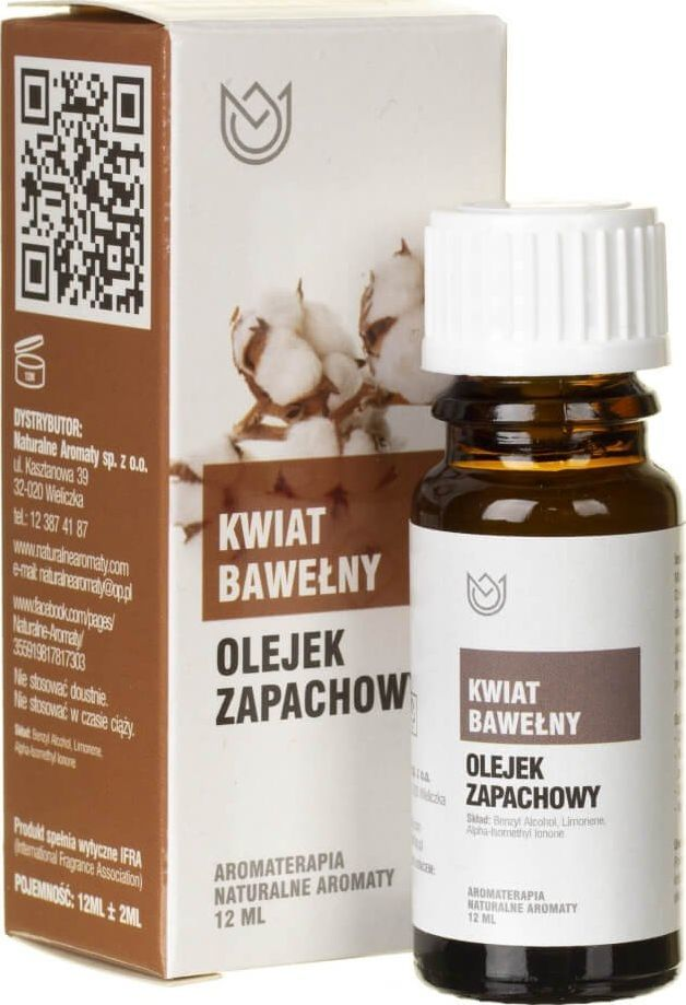 Naturalne Aromaty Naturalne Aromaty olejek zapachowy Kwiat Bawełny - 12 ml 1
