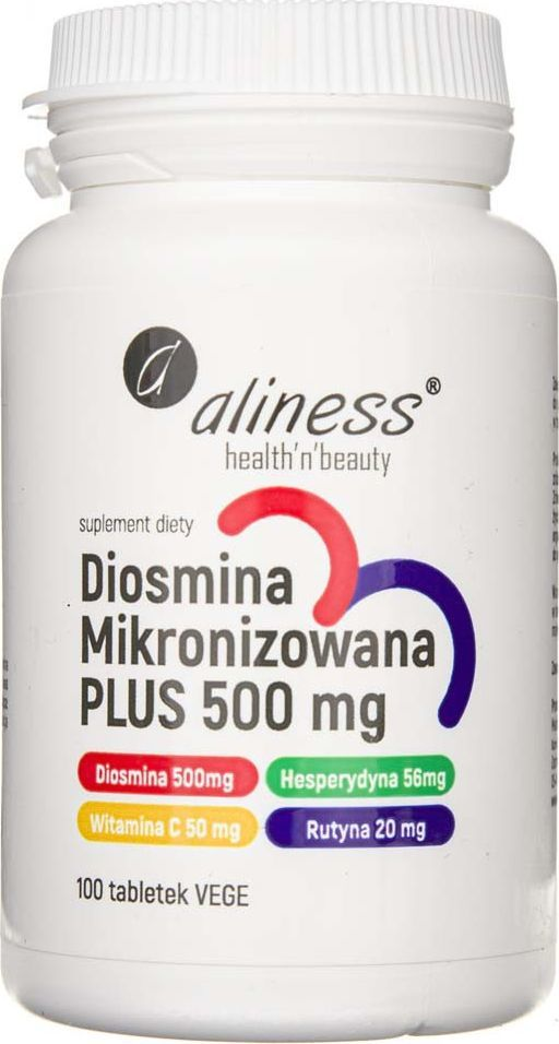 Aliness Aliness Diosmina mikronizowana PLUS 500 mg - 100 tabletek 1
