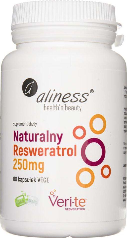 Aliness Aliness Resweratrol Veri-Te 250 mg - 60 kapsułek 1
