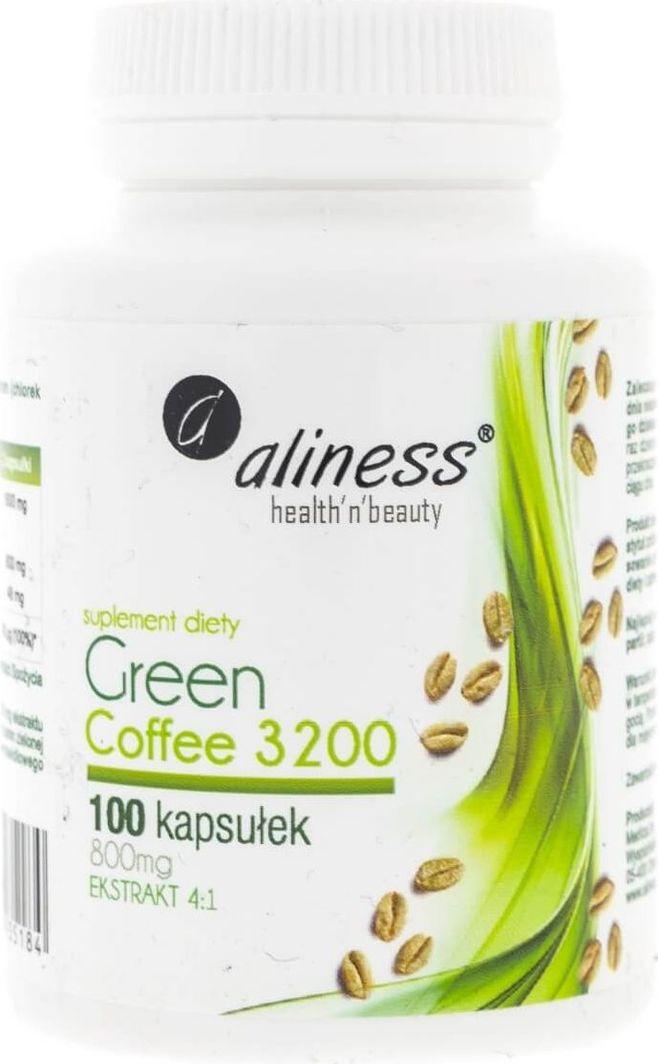 Aliness Aliness Green Coffee (Zielona kawa) 3200 - 100 kapsułek 1