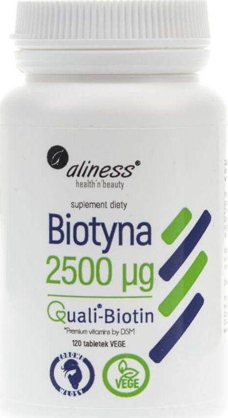 Aliness Aliness Biotyna 2500 mcg QualiBiotin - 120 tabletek 1