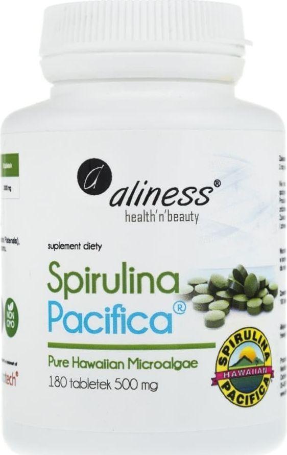 Aliness Aliness Spirulina Hawajska Pacyfica 500 mg - 180 tabletek 1