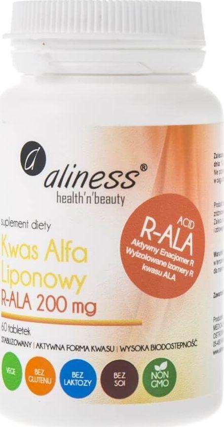 Aliness Aliness Kwas Alfa Liponowy R-ALA 200 mg - 60 tabletek 1