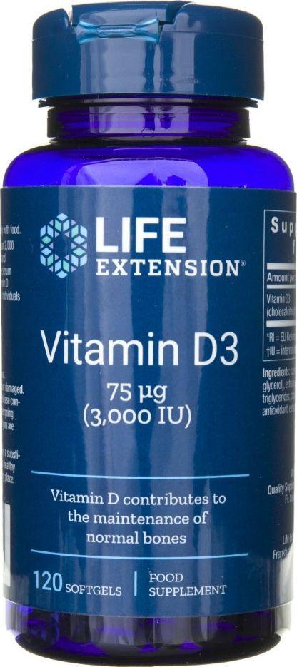 Life Extension Life Extension Witamina D 3000 IU - 120 kapsułek 1