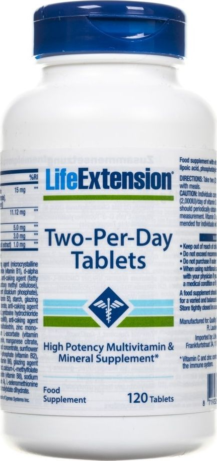 Life Extension Life Extension Two-Per-Day Tablets (Multiwitamina) - 120 tabletek 1