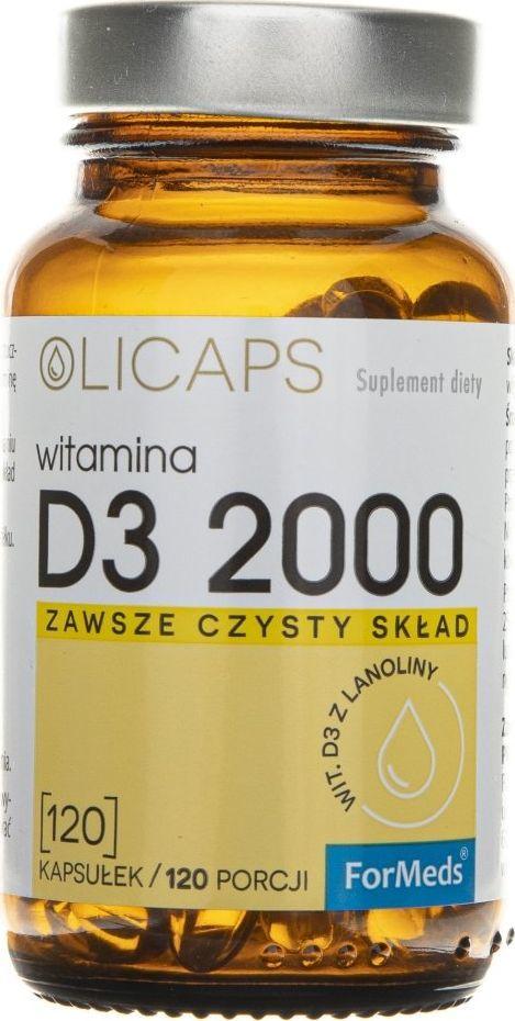 Formeds Formeds Olicaps Witamina D3 2000 - 120 kapsułek 1