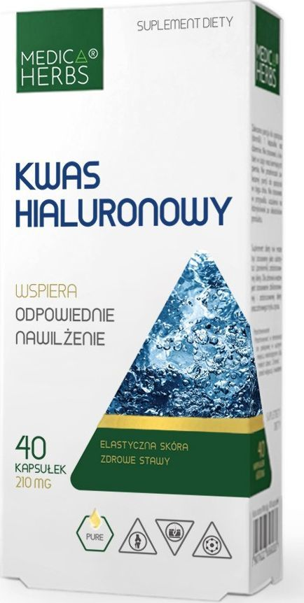 Medica Herbs Medica Herbs Kwas hialuronowy 210 mg - 60 kapsułek 1