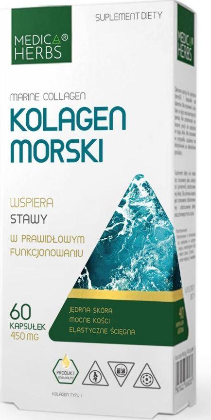 Medica Herbs Medica Herbs Kolagen Morski 450 mg (Marine collagen) - 60 kapsułek 1