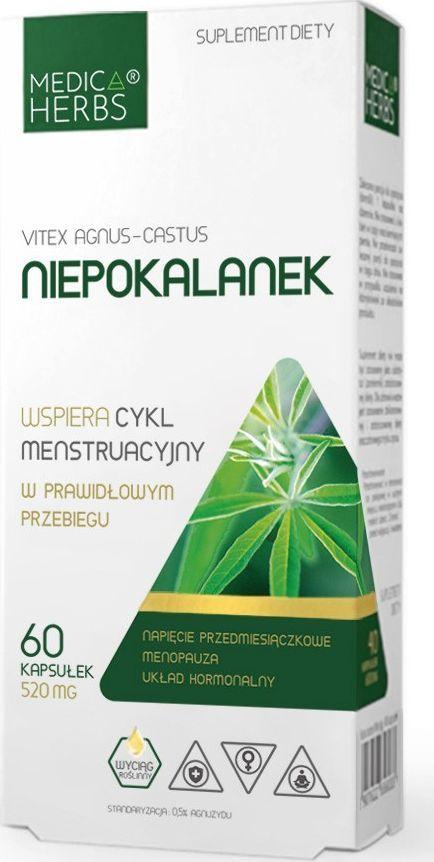 Medica Herbs Medica Herbs Niepokalanek 520 mg - 60 kapsułek 1