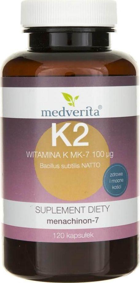 MEDVERITA Medverita Witamina K Vitamk7 (menachinon-7) 100 g - 120 kapsułek 1