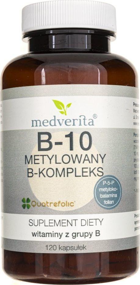 MEDVERITA Medverita B-10 metylowany B-kompleks - 120 kapsułek 1