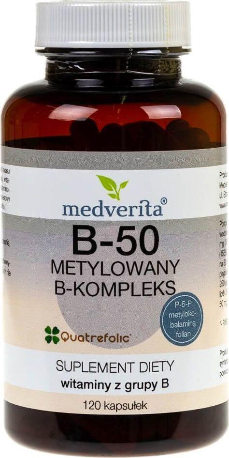 MEDVERITA Medverita B-50 metylowany B-kompleks - 120 kapsułek 1