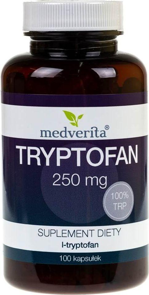 MEDVERITA Medverita Tryptofan L-tryptofan 250 mg - 100 kapsułek 1
