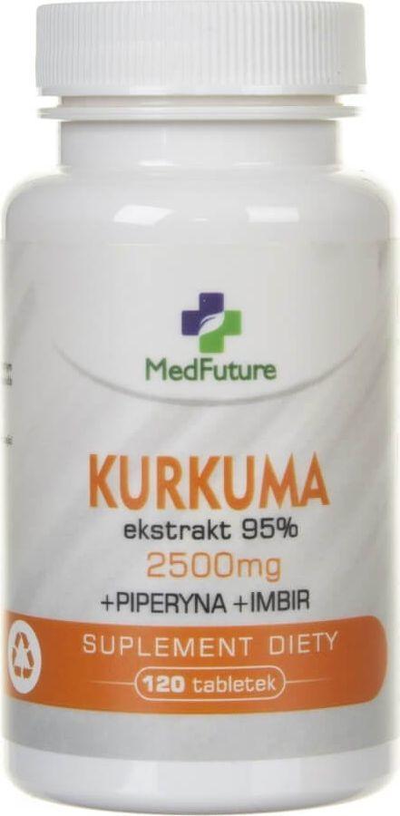 MedFuture MedFuture Kurkuma ekstrakt 95% 2500 mg - 120 tabletek 1