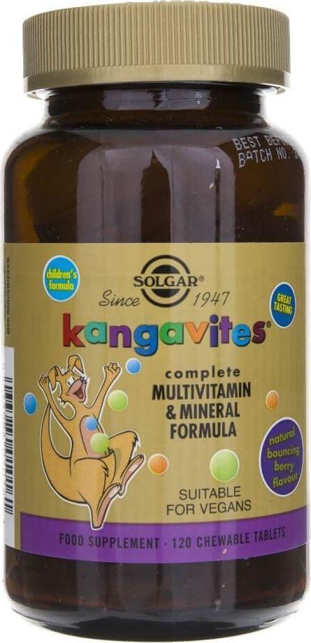 Solgar Solgar Kangavites witaminy dla dzieci (smak jagodowy) - 120 pastylek 1