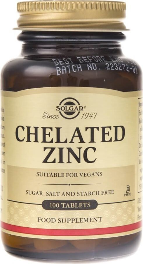 Solgar Solgar Cynk chelat aminokwasowy - 100 tabletek 1