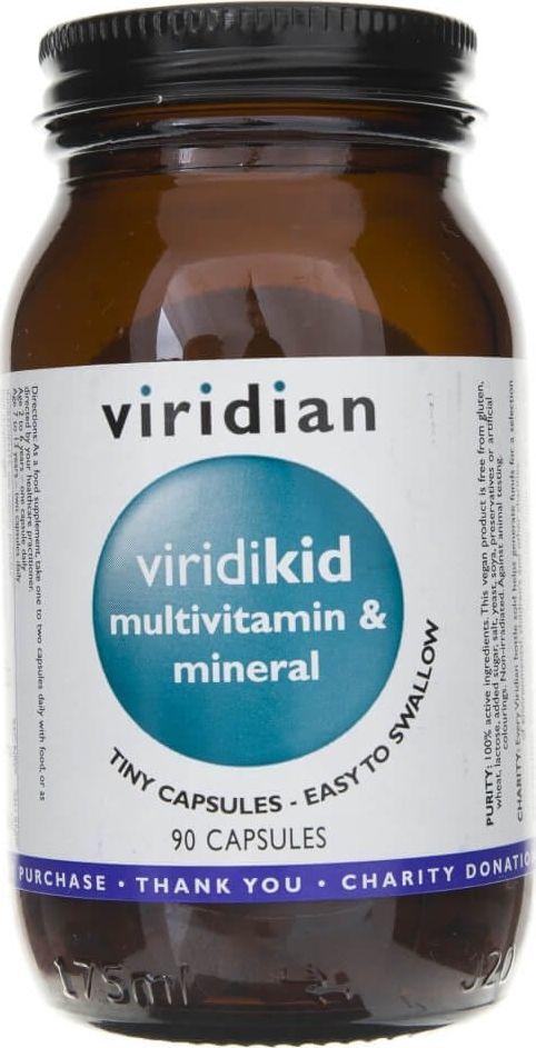 Viridian Viridian Viridikid dla dzieci witaminy i minerały - 90 kapsułek 1