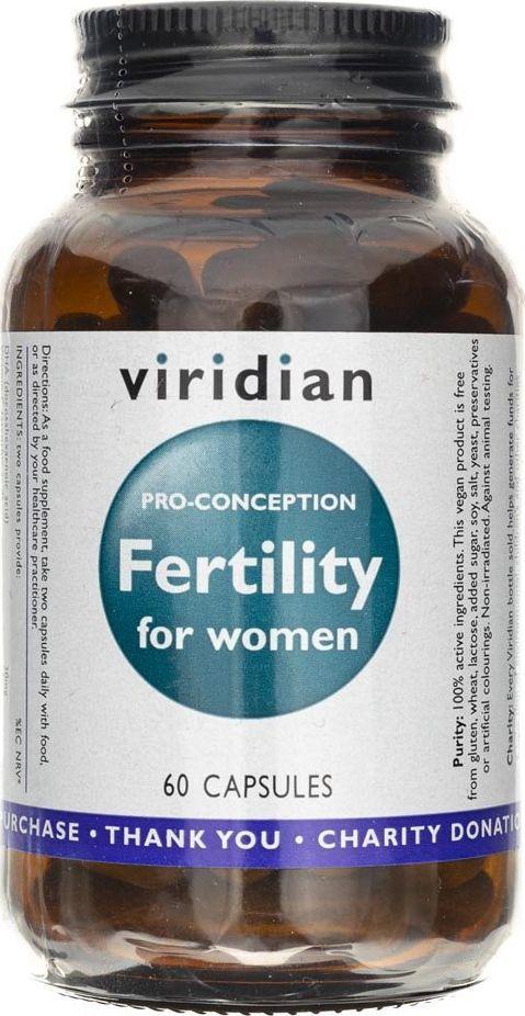 Viridian Viridian Fertility for women (płodność dla kobiet) - 60 kapsułek 1