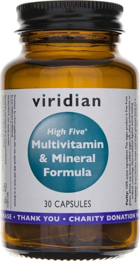 Viridian Viridian High Five Multivitamin Mineral Formula - 30 kapsułek 1