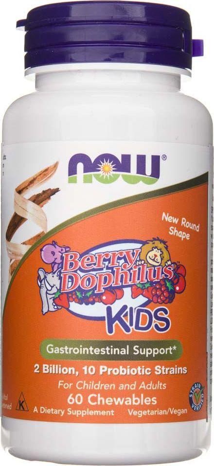 NOW Foods Now Foods BerryDophilus Kids - 60 tabletek 1