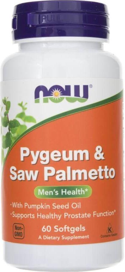 NOW Foods Now Foods Pygeum Saw Palmetto - 60 kapsułek 1
