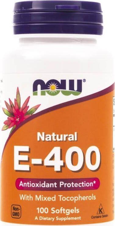 NOW Foods Now Foods Witamina E-400 (mieszanka tokoferoli) - 100 kapsułek 1