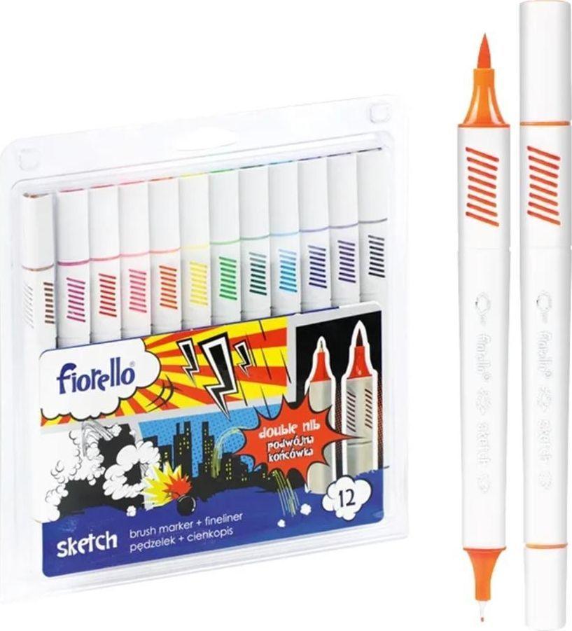 Fiorello Pisaki Sketch dwustronne 12 kolorów FIORELLO 1