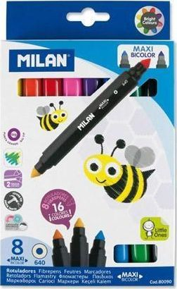 Milan Flamastry Bicolor 8szt-16 kolorów MILAN 1