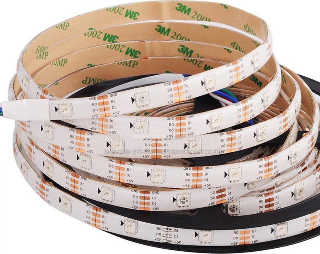 Taśma LED LED BTF- lighting Taśma LED RGB SMD5050, 30d/m, biała, IP65, 5 m 1