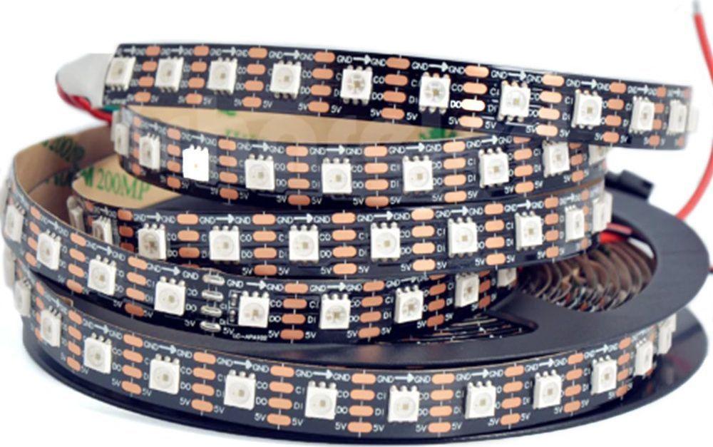 Taśma LED LED BTF- lighting Taśma RGB SMD5050, SK 9822, czarna,IP20, 5 m 1