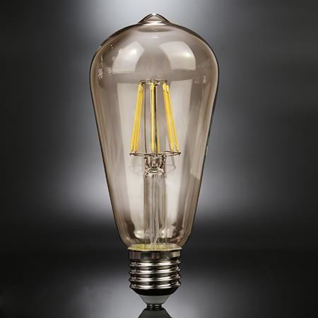 ALTAVOLA DESIGN Bursztynowa żarówka dekoracyjna E27 6W ciepła Altavola LED BF-19 LED 1