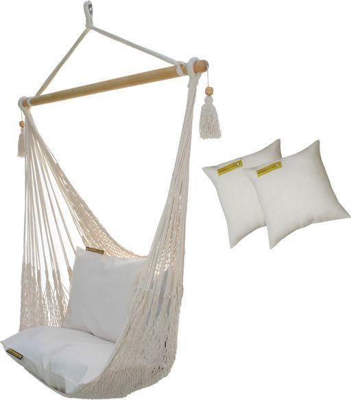 Koala Sznurkowy Fotel hamakowy z poduszkami, ecru AHC-8-PZS 1