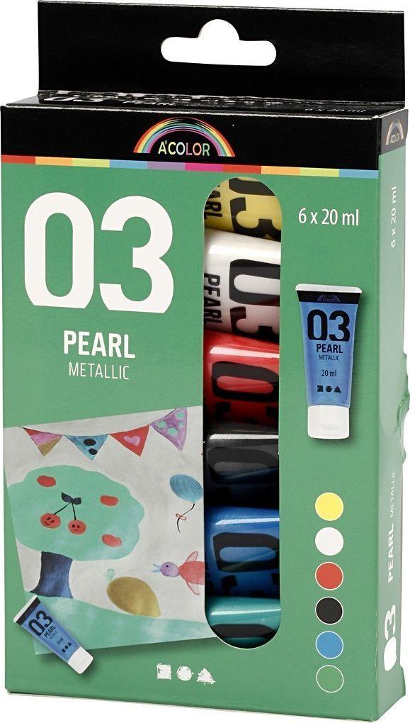 Creativ Company Zestaw farb akrylowych metalicznych 1