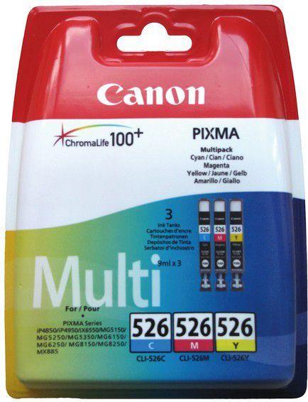 Canon tusze CLI-526 (cyan, magenta, yellow) 1